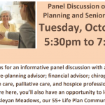 10/29/19: Discussion on Estate Planning and Senior Wellness, 5:30-7:30PM